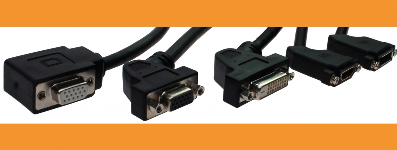 Now also HDMI and DisplayPort cables in angled version available